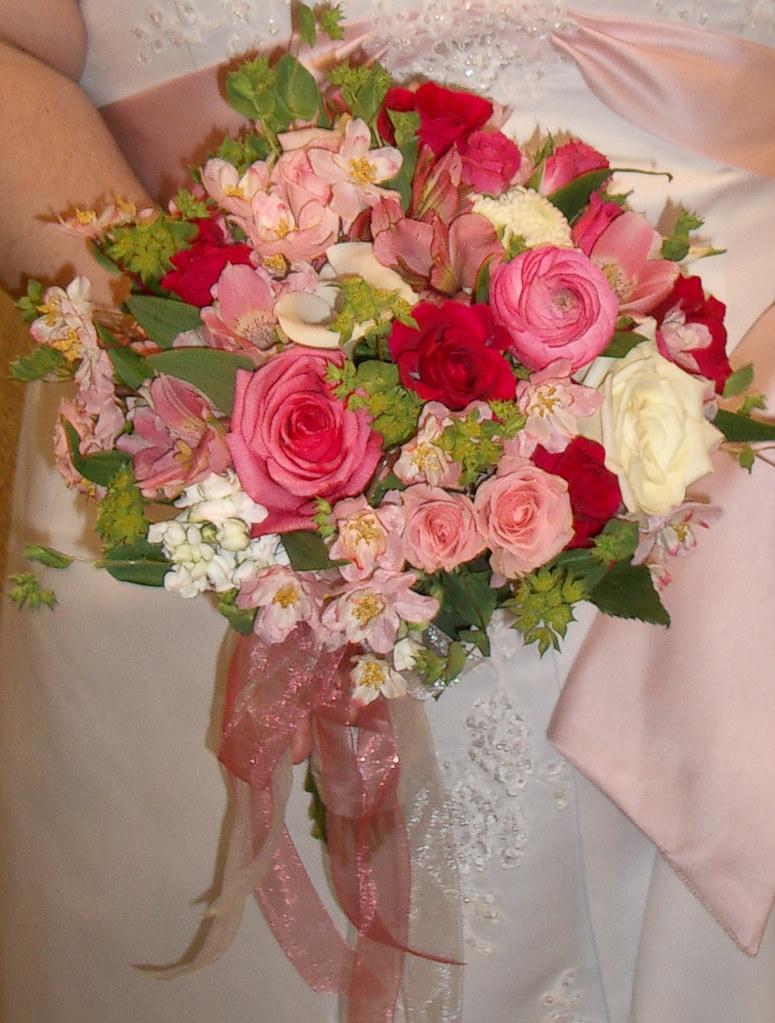 wedding bouquet Bergen rose, ranunculus,