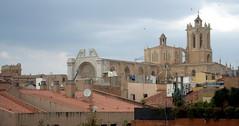 Blick über die Dächer von Tarragona zur Cathedrale, Katalonien