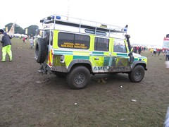 Mud masks hi-vis (barronr) Tags: music festival scotland concert mud drink perthshire ambulance tinthepark firstaid ballado scottishambulanceservice