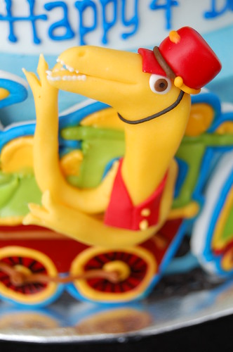 Dinosaur Train Birthday Cake - the Conductor