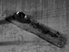 pain (jamajka1982) Tags: white black canon fork spoon kitcheb vendetta tortury tortures zemsta rachunki łyżka widelec s5is