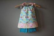 Full Circle set - pillowcase dress & knit shorties - medium