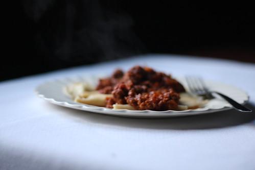 homemade spelt ravioli