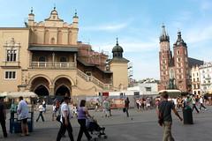 Hauptmarkt (Rynek Główny) mit den Tuchhallen in Krakau