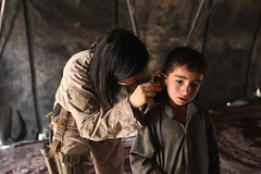Navy doc checks Afghan children