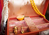 7.11.10 (aileenbarker) Tags: vintage keychain box jewelry pearls owl pendant tupperware necklance