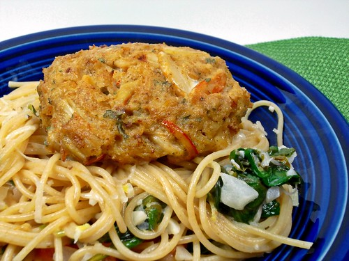 Kacey's Kitchen - Lemon Pasta with Crab Cakes 1