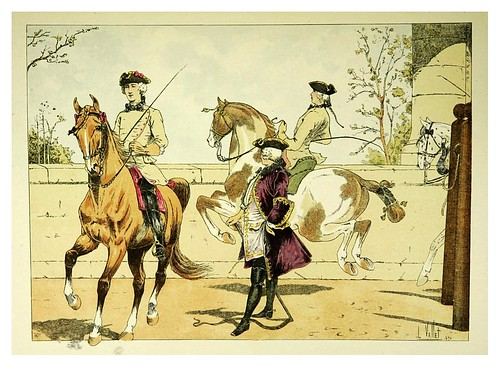 018-Picadero publico 1751-Le chic à cheval histoire pittoresque de l'équitation 1891- Louis Vallet