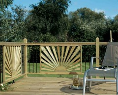 Traditional Timber Panel Large Rail Deck (Richard Burbidge) Tags: decks decking deckrailing deckboards wooddecking gardendecking richardburbidge deckingbalustrade deckingrails deckingbalustrades