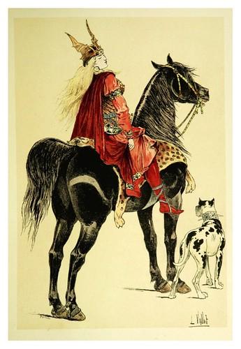 005-Brunehaut reina de Australasia-Le chic à cheval histoire pittoresque de l'équitation 1891- Louis Vallet