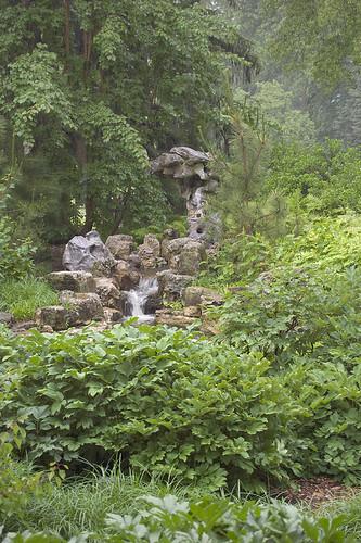 "Missouri Botanical Garden (""Shaw's Garden""), in Saint Louis, Missouri, USA - waterfall in Chinese Garden - uncorrected for Purkinje effect"