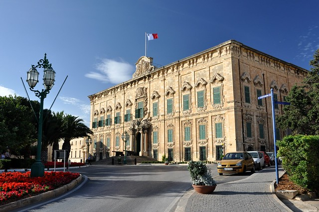 The Auberge de Castille et Leon is located within the city of Valletta,