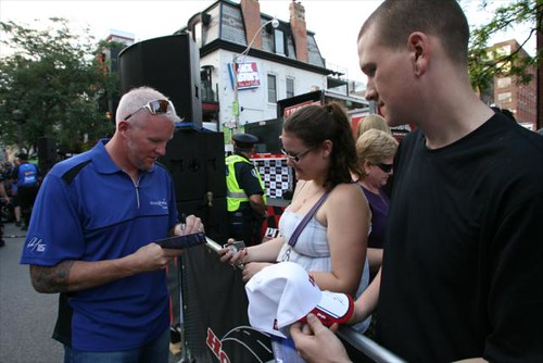 Paul Tracy signing