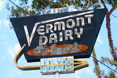 Vermont Dairy (Ape Flavored) Tags: california sign canon neon rusty drivethru neonsign dairy vintagesign canonsd780is sd780is vermontdairy 22416southvermontavenuetorrance