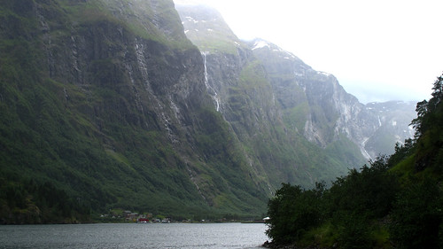 A Waterfall Through the Mists - Nærøyfjord, Norway