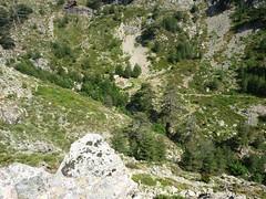 Sentier de la transhumance : arrivée au-dessus du refuge de Puscaghja