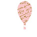 pink french script hot air balloon