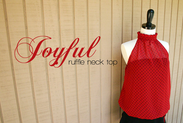Joyful ruffle neck top 1