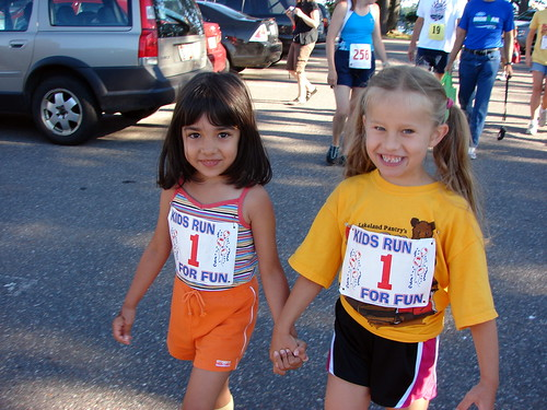 Zoey and Ruby Getting Ready for the Race!