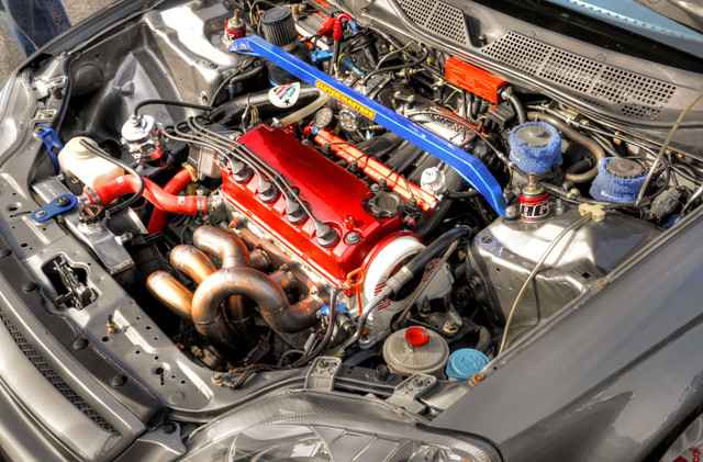 Built D16y7 Turbo Engine Ready For Boost Honda