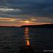 puesta de sol de oro