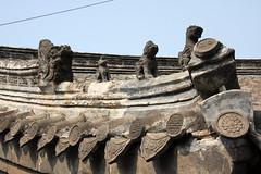 The great wall in Mutianyu, China (sensaos) Tags: china county roof wall architecture asia great chinese decoration mutianyu muur azie azië huairou mùtiányù