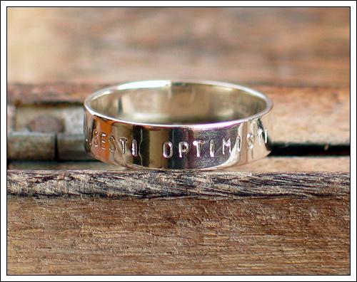 Silver sheet ring