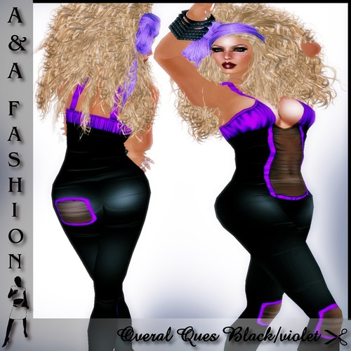 A&A Fashion Overal Ques Black-violet