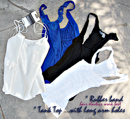 how to make a bag out of a tank top