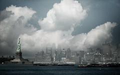 New York City (noamgalai) Tags: nyc newyorkcity sky ny newyork ferry clouds buildings landscape liberty boat hudson statueofliberty statenisland noamgalai sitelandscapes