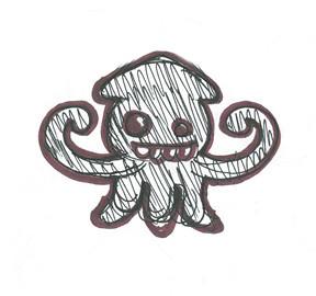 squid monster doodle