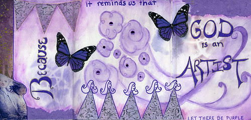 "purple ""creative journaling"" ""art journal"" ""visual journal"" god"
