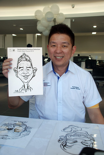 Caricature live sketching for Performance Premium Selection BMW - Day 2 - 4