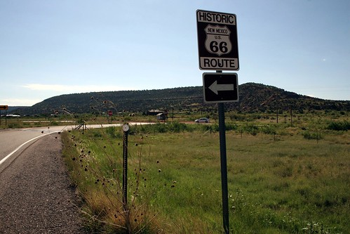 exit to old route 66, heading east towards tucumcari, new mexico
