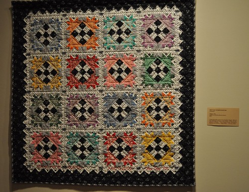 black and white and color quilt SMofA quilt show 2010