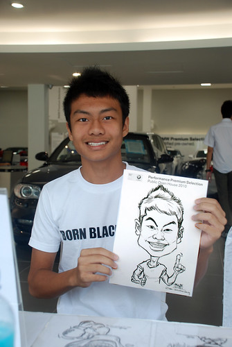 Caricature live sketching for Performance Premium Selection BMW - Day 4 - 1