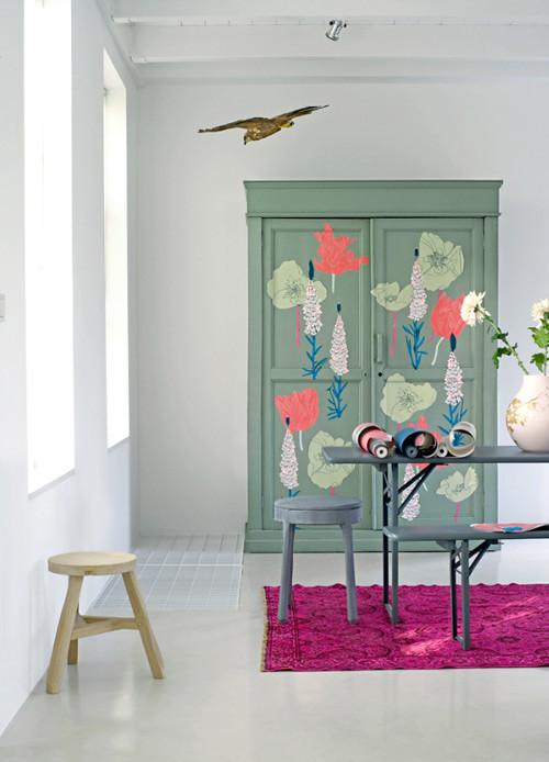 Fresh Greens + Blues: Painted Furniture