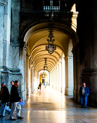November light (marin.tomic) Tags: city travel november light people urban portugal architecture europe kodak lisboa lisbon explore lissabon portuguese colonade