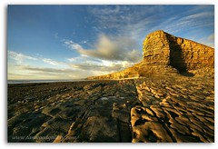 THE WELSH SPHINX (IMAGES OF WALES.... (TIMWOOD)) Tags: sunset sea beach water southwales clouds evening coast rocks colours sony pebbles cliffs alpha valeofglamorgan lowsun rockpools nashpoint a700 marcross thewelshsphinx passiondclic