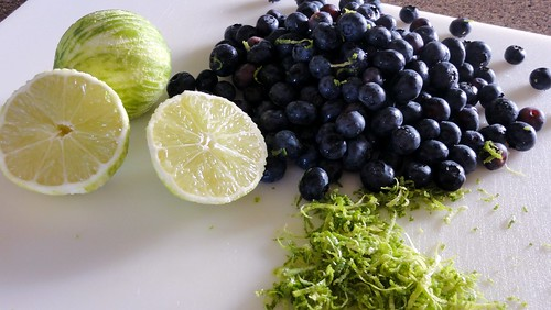blueberries and limes