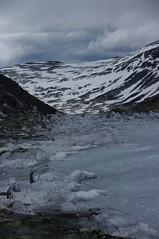 Frozen lake in Jotunheimen