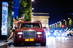 "Rolls Royce Phantom ""1"" (Katrox - www.kevingoudin.com) Tags: red paris girl car night photography 1 nikon automobile photographie shot nightshot dream champs rr rollsroyce iso gran british rolls gt phantom nuit supercar royce vr afs qatar vehicule 70200mm lyse britishcar 6400 qtr dreamcar 7020028 turimo plate1 f28g iso6400 vr70200 nikkor70200 automotiv champslyse nikkor7020028 d700 nikond700 afsvr70200mmf28g afs70200"