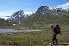 Jotunheimen Holger onderweg in Visdalen