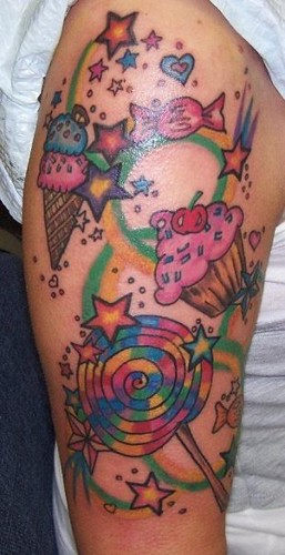 Candy Sleeve Tattoo Designs