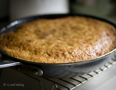 Cherry Cornmeal Upside Down Cake 5