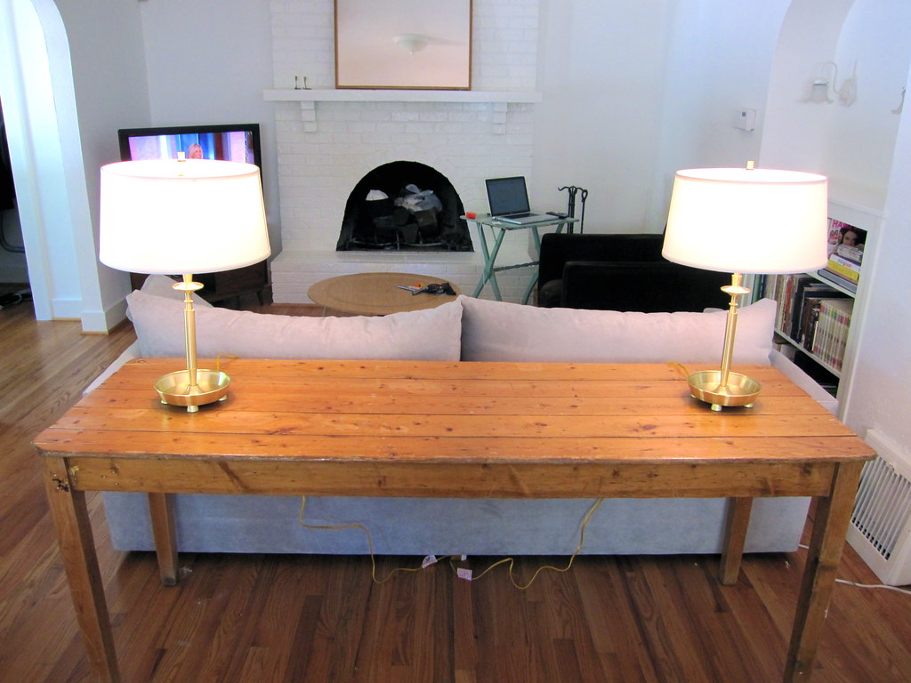 antique plank harvest table