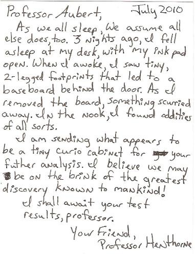 Mini Curio Cabinet Letter