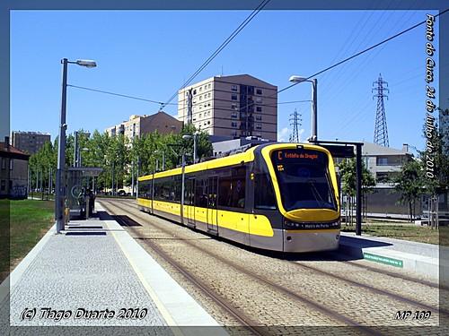 Flexity Swift - Metro do Porto 109 - Fonte do Cuco - 24 de Julho de 2010