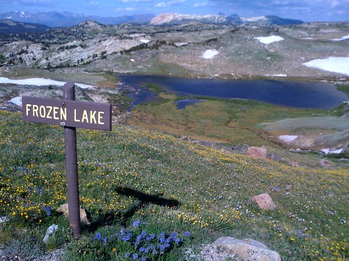 The only lake or peak that had a sign as we came down into Yellowstone.