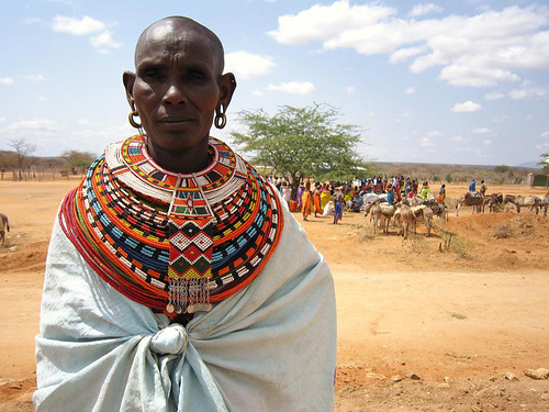 4a. Samburu woman waiting for her food handout